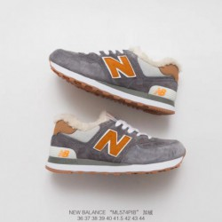 New-Trainers-Balance-574-New-Balance-574-Pigskin-ML574BCB-Cotton-wool-blend-New-Balance-574-Cotton-wool-blend-Trainers-Shoes-Ne
