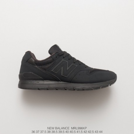 Mrl996kp black warrior new balance 996 suede and net cloth material join to create upper