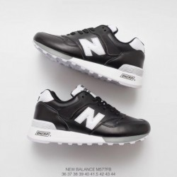 new balance black leather trainers new balance 574 lux leather trainers m577fb new balance 577 unisex full leather trainers sho
