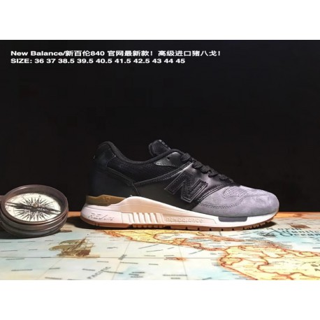 UNISEX Code 36-45 New Balance/nb 840 Premium Imported Genuine Pigskin Combined Sole Shock Absorber