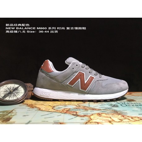 UNISEX Code 36-44 New Balance M860 Classic New Colorway Import Premium Pigskin Vintage Jogging Shoes UNISEX Fashion Casual Walk